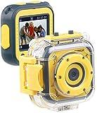 Somikon Kinderkamera: Kinder-HD-Actioncam mit Unterwasser-Gehäuse & 6 virtuellen Foto-Rahmen (Fotoapparat)