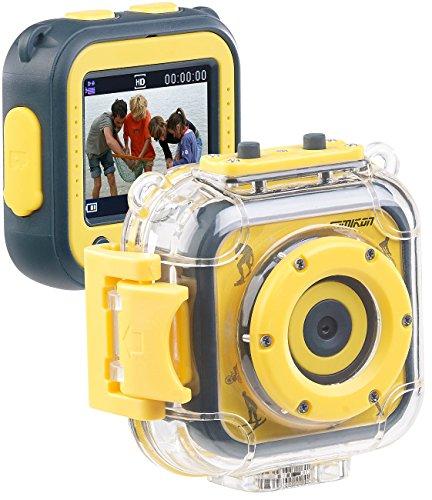 Für Kinder Unterwasser-kamera (Somikon Kinderkamera: Kinder-HD-Actioncam mit Unterwasser-Gehäuse & 6 virtuellen Foto-Rahmen (Kinder Action Cam))