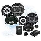 Crunch Front/Heck 13cm/130mm Auto Lautsprecher/Boxen/Speaker Komplett-Set für Honda