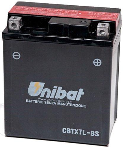 MIM Distribution BATTERIA UNIBAT YTX7L-BS PER HONDA CB F Hornet S (PC34) 600 2000-2001 12V 6 Ah CON ACIDO per Honda-CB 600 F Hornet dal 2000 fino al 2001