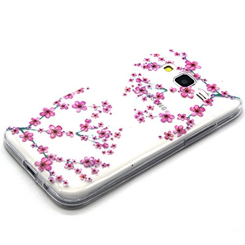 ISAKEN Custodia iphone 6, iphone 6S Cover Case, ISAKEN UltraSlim TPU Case per Apple iPhone 6s iPhone 6 ( 4.7 ) 4,7 pollici, Elegant Printing Drawing Pattern Cose cover sottile Silicone Custodia Morbi rosa fiori