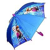 Disney Eiskönigin Frozen - Kinder Regenschirm Stockschirm blau