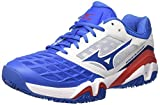 Mizuno Herren Wave Intense Tour CC Tennisschuhe, Multicolore (White/StrongBlue/ChineseRed), 45 EU