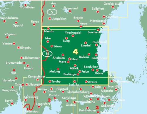 Schweden Mitte - Sundsvall - Falun - Gävle, Autokarte 1:250.000, Blatt 4, freytag & berndt Auto + Freizeitkarten: Sundsvall - Falun - Galve: Alle Infos bei Amazon