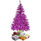 Mojawo Weihnachtsbaum künstlicher Tannenbaum Christbaum 150 cm inkl Ständer Lila/Pink