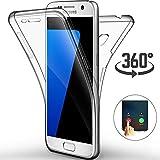 Ptny Coque Samsung Galaxy J3 2017 (J330), [Touch 3.0 Version] [360 Degrés de Protection Tout] [Avant et Arrière Intégral Etui] Silicone Gel TPU Full Body Protection Housse Case Cover [Transparent]