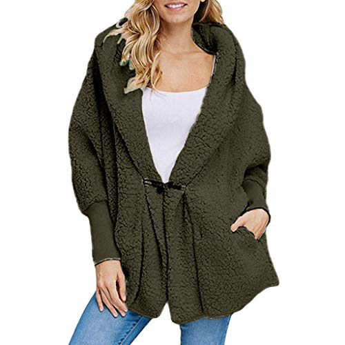 Ncenglings Damen Wintermantel Faux Pelzmantel Outwear Warme Oberbekleidung Damen Teddy-Fleece Mantel Kurz Strickjacke Cardigan Wintermode Strickfleecejacke Parkas