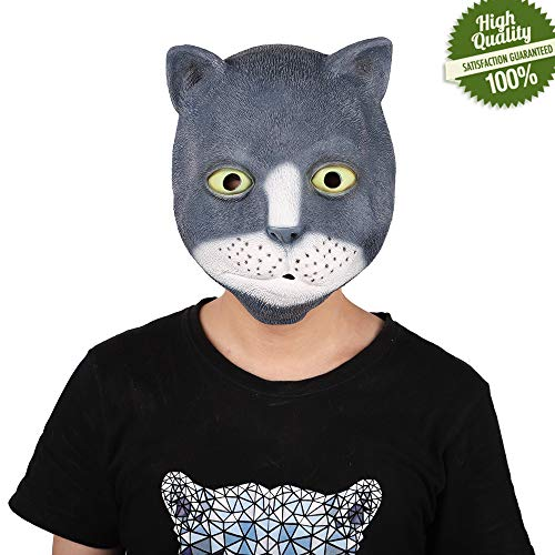 Gruselig Halloween Maske, Morbuy Neuheit Erwachsene Latex Horror Dämon Masken Perfekt für Fasching Karneval Kostüm Weihnachten Halloween Cosplay Kostüme Für Männer und Frauen (Eins,Leopard)