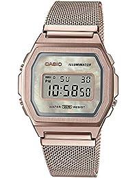 Casio Reloj para Mujer de Cuarzo con Correa en Stainless Steel A1000MCG-9EF