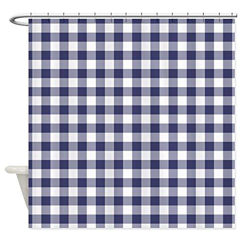 OneHoney Schwarz Weiß Checkers Plaids Muster Stoff Badezimmer Dusche Vorhang Home Decor Bad Vorhänge, Wasserdicht Waschbar 54x78inch Navy Blue Gingham Checked