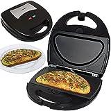 Syntrox Germany Omelette Maker Omelettmaker Chefmaker SM-1300W Omelett mit herausnehmbaren Backplatten