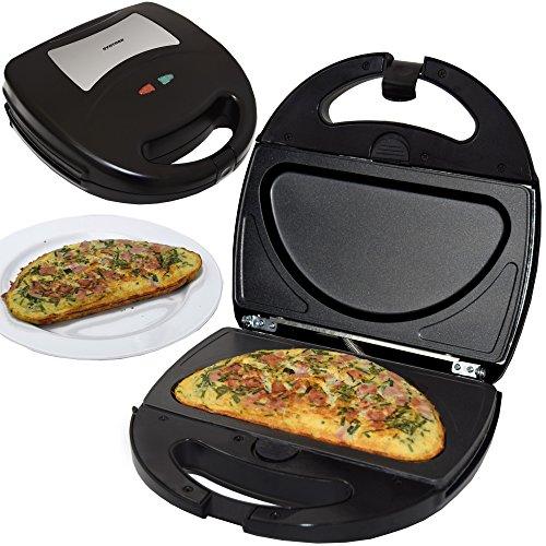 Syntrox Germany Omelette Maker Omelettmaker Chefmaker SM-1300W Omelett mit herausnehmbaren Backplatten - Omelett-sandwich-maker