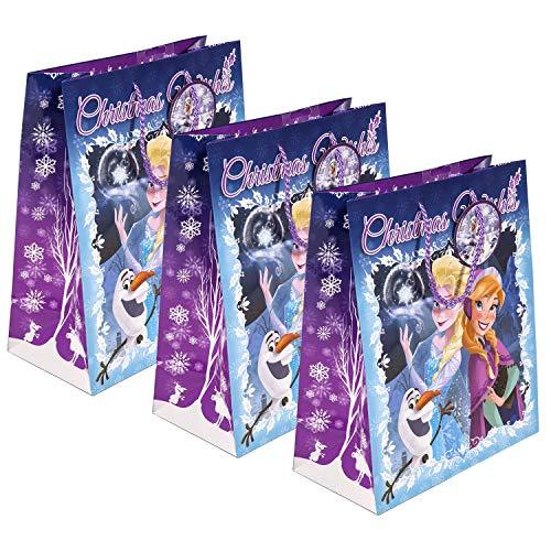 Disney La Reine des neiges Christmas Wishes Sac cadeau (lot de 3) Grande fête/Vacances/shopping Sacs en papier