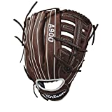 "WILSON A900, Guanto da Baseball E Softball Uomo, Dark Brown/Bianco, 12.5"" all LHT"