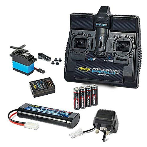 Carson Tamiya Starter Set with 2.4 Ghz Stick Radio, 7.2v Battery and Charger