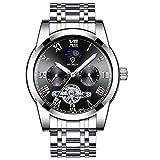 Hermosos Relojes Reloj de los Hombres Reloj de los Hombres Reloj mecanico automatico Correa de Acero