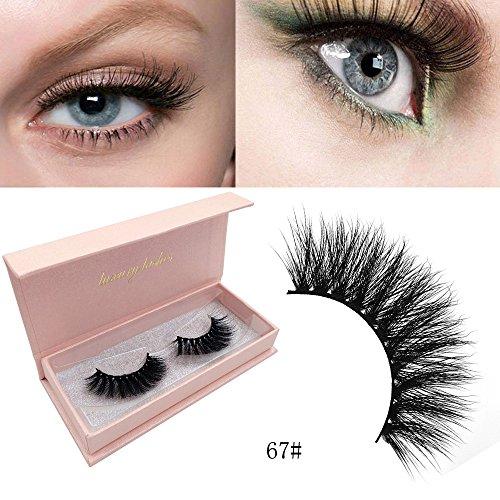 Damen Natürliche falsche Wimpern 3d Nerz Wimpern Volumen Weiche Wimpern Lange Wimpernverlängerung Beauty Make-up Augen Künstliche