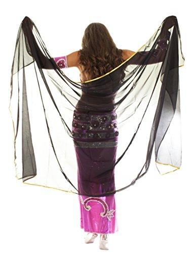 Velo decorato in chiffon con finiture per danza...