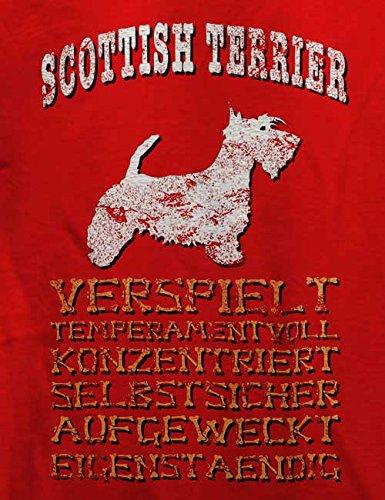 Hund Scottish Terrier Herren T-Shirt Rot