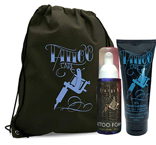 TATTOO KIT XL (POMADA TATTOO CARE PANTHENOL 100g + JABÓN ESPUMA TATTOO FOAM PANTHENOL 75ml) - MADE IN SPAIN 100%