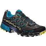 LA SPORTIVA Akyra, Scarpe da Trail Running Uomo, Multicolore (Carbon/Tropic Blue 000), 46.5 EU