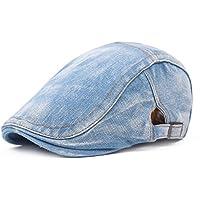 Vi.yo Unisex Flat Peak Cap Gorras Ajustables Gorras Sombrero de protección Solar Sombrero de Ocio para Exteriores
