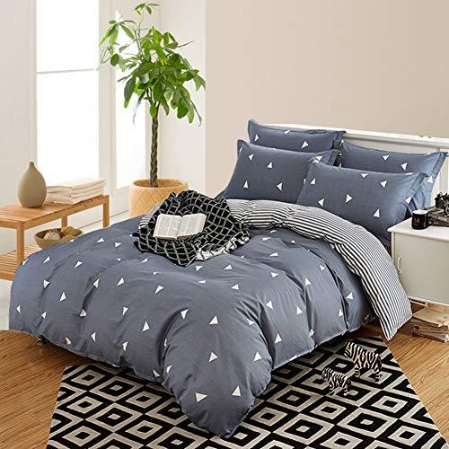 Xhdx 100% cotone set copripiumino, ultra soft duvet set doppio ipoallergenico pezzo unico set biancheria da letto,b,200 * 230cm