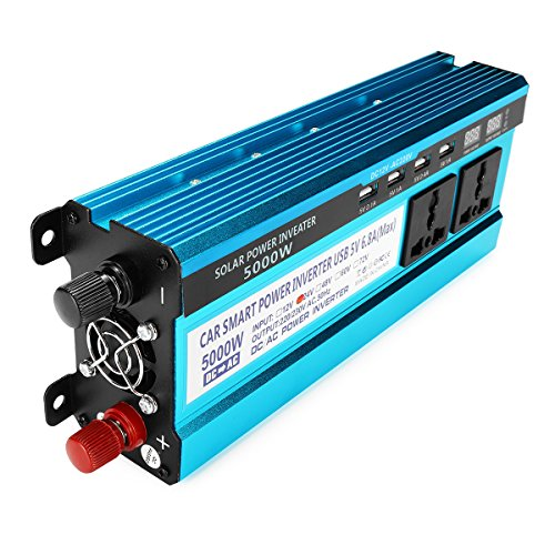DyNamic 5000W Pico De Energía Solar Inversor De Doble LED Pantallas 12V/24V DC...