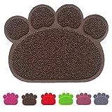 Premium Pet Tappetini Sottociotola per Cibo per Cani e Gatti, Impermeabile Antiscivolo Pet Feeding Bowl Pet Litter Trey Tappetino per Gatto e Cane, Medio, Marrone