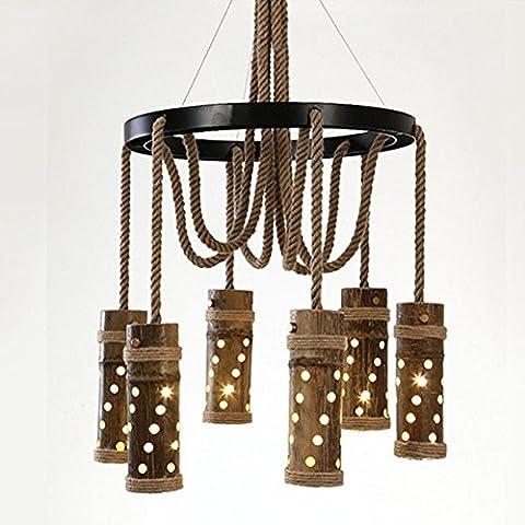 BJVB Canapa corda ciondolo luci camera da letto Living Room Bar Cafe ristorante LED Lampadari Lampadari plafoniere in