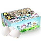 Set di uova di Pasqua fai da te con superficie opaca per trattenere la pittura (Contiene 25 uova, 4 pennelli, 24 mini barattoli di vernice) ideale per la caccia alle uova di Pasqua feste