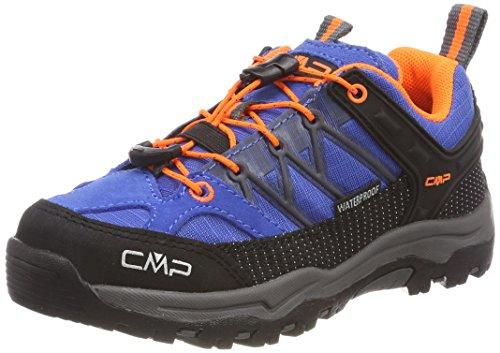 CMP Unisex-Kinder Rigel Trekking-& Wanderhalbschuhe, Blau (Zaffiro-Grey-Orange Fluo), 35 EU