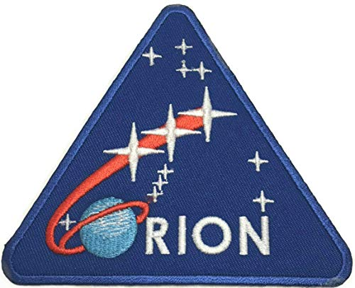 Raumanzug Kostüm Apollo - NASA Orion Patch (95mm) Bestickt Eisen Nähen auf Badge Aufnäher Astronaut Raumanzug Programm Souvenir DIY Kostüm