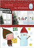 Weihnachten - Kinder, Geschenke Und Schneemann Aufkleber Poster-Sticker Für Fenster (36 x 24cm)