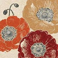 Feeling at home, Stampa artistica x cornice - quadro, fine art print, Un tocco Poppys III cm 91x91