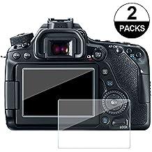 awinner 80d–de cristal para Canon EOS 70d 700d 750d, cámara Protector de pantalla anti-arañazos templado Glas (2-Pack)