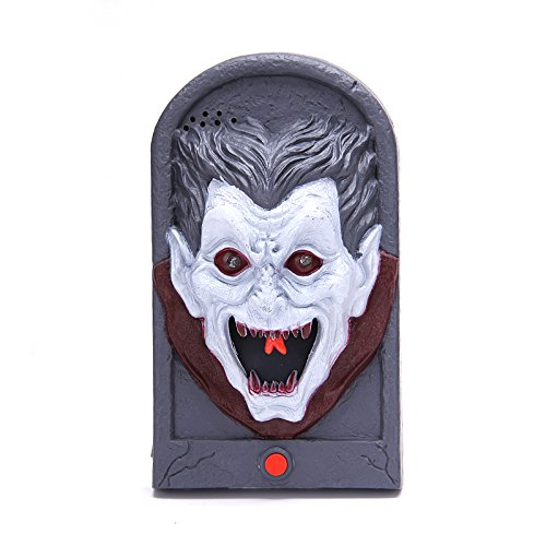 Requisite Scary Clown (Damjic Halloween Bars Spukhäuser Türklingel Requisiten Lichter Klingt Bars Dekorationen)
