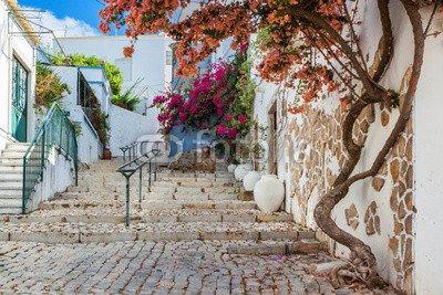"""Preisvergleich Produktbild Leinwand-Bild 30 x 20 cm: """"Ancient street village Estoi. Portugal,  Faro."""",  Bild auf Leinwand"""