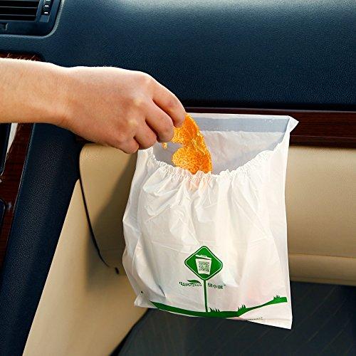 Lorcoo Auto Müllsack, Wasserdicht Auto Papierkorb Wurf - Ungiftig Umweltschutz, 30 Pcs eine Packung (Wurf Bands)