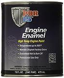 POR15Motor Paint Emaille 473ml 150°C 80% massives Pigment = weniger Lösungsmittel Verdunsten. Finish Streak gratis.