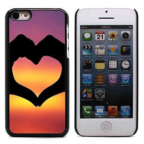 Graphic4You I Am Here With You Niedlich Ehepaar Regen Liebe Regenschirm Design Harte Hülle Case Tasche Schutzhülle für Apple iPhone 5C Design #5