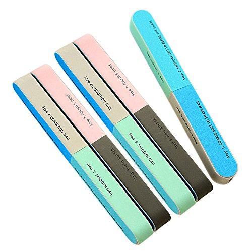 5pcs bonbons couleur ongles ponçage polissage bloc de soins cosmétiques outils de l'équipement Set couleur aléatoire