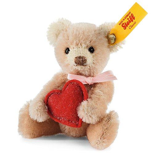 Steiff Mini Teddybär mit Herz Plüsch-Spielzeug (Blassrosa)
