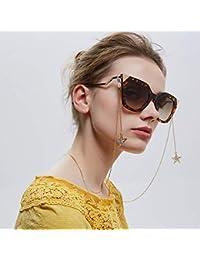 Leisial. Moda Cadena de Gafas - Gafas Decorativas Colgante de Pentagrama Soporte de Cadena para Gafas de Sol Correa Collar de Cuello para Mujer Niñas