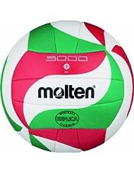 Molten Ball Molten Wettspiel Volleyball klein 135 g, Weiß/Grün/Rot, 135g, Ø150 mm, V1M300