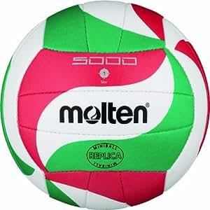 Molten V1M300 Mini palla da pallavolo, Ø 15 cm, colore: Bianco/Verde/Rosso
