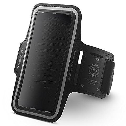Brassard Sport, Spigen Velo [léger universel] [Crystal Clear] [double couture] Brassard telephone Anti sueur Ajustable Brassard iPhone 8/8 Plus/7 Plus/6S Plus/6 Plus, Samsung Galaxy S8+/S8 /S7 Edge/S7/Note 5, LG G6/V30, Google Pixel XL, Hwawei P10, OnePlus 5, Sony Xperia XZ - A700