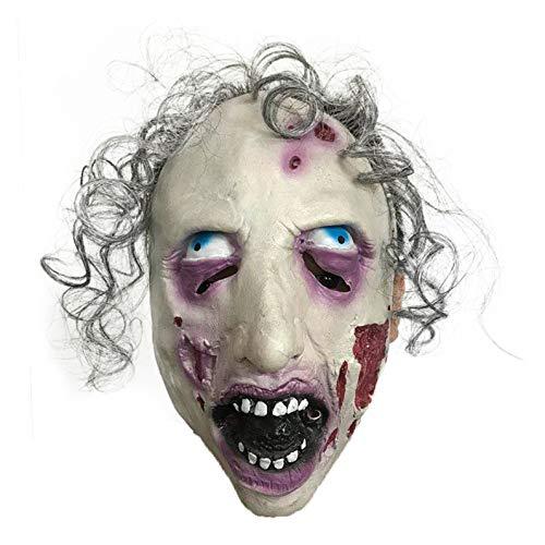 NA Gel Nail Halloween Horror mit Einer Maske, Zombie-Maske, Aussenseiter Tanzkleid, EIN faules Gesicht Spielen, Silber (Kostüm D'halloween Pour Animaux)