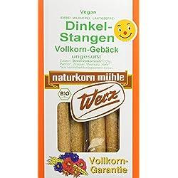 Werz Dinkel-Vollkorn-Stangen,4er Pack (4x 125 g Packung) - Bio