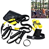 Xatan Schlingentrainer Suspension Trainer Kit, 7 Complete Acessories justierbares Übungs- Widerstand-Band-Set Heavy Duty Bodyweight Widerstandstrainer-Eignung-Training für Gymnastik/Haus / im Freien